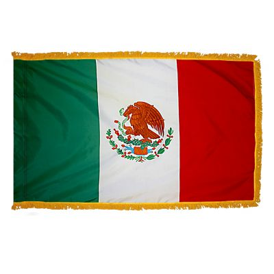 2ft. x 3ft. Mexico Flag Fringed for Indoor Display