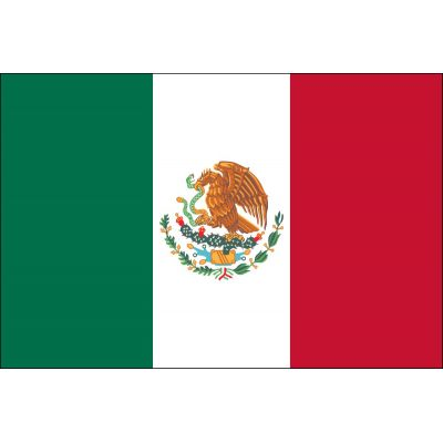 2ft. x 3ft. Mexico Flag for Indoor Display