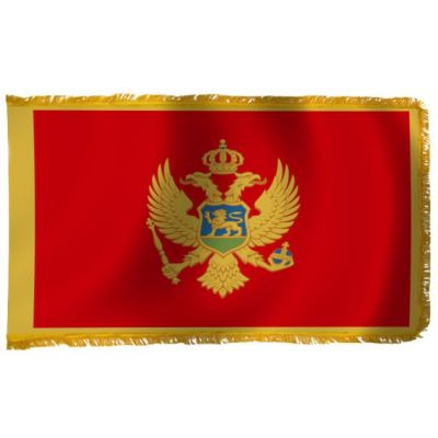4ft. x 6ft. Montenegro Flag for Parades & Display with Fringe