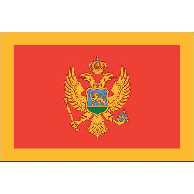 4ft. x 6ft. Montenegro Flag with Brass Grommets Use