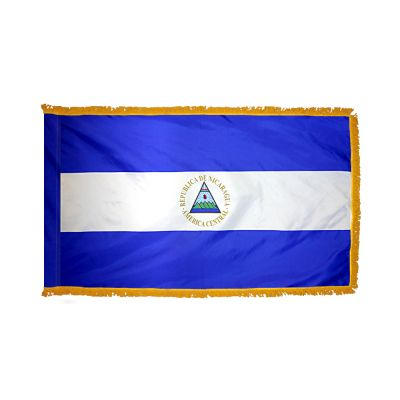 3ft. x 5ft. Nicaragua Flag Seal for Parades & Display with Fringe