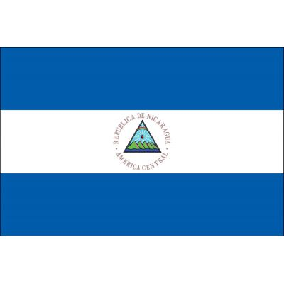2ft. x 3ft. Nicaragua Flag Seal for Indoor Display