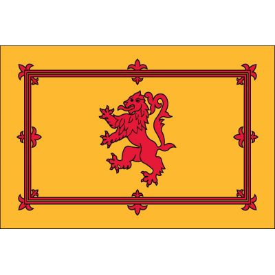 4ft. x 6ft. Scottish Rampant Lion Flag Indoor with Fringe