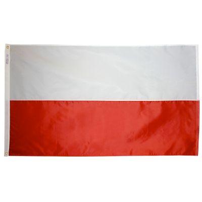 4ft. x 6ft. Poland Flag w/ Line Snap & Ring