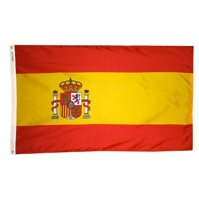 2ft. x 3ft. Spain Flag Seal with Canvas Header