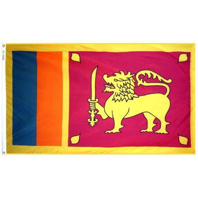 3ft. x 5ft. Sri Lanka Flag with Brass Grommets