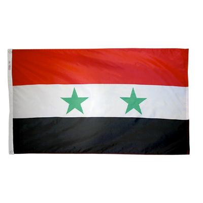 3ft. x 5ft. Syria Flag with Brass Grommets