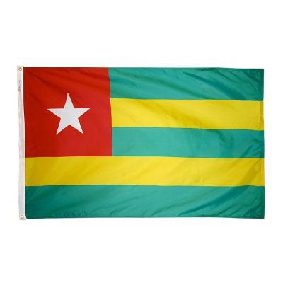 4ft. x 6ft. Togo Flag w/ Line Snap & Ring