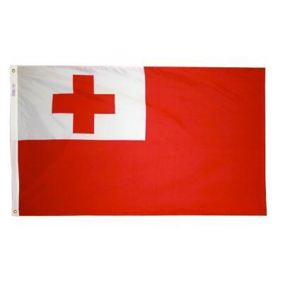 4ft. x 6ft. Tonga Flag w/ Line Snap & Ring