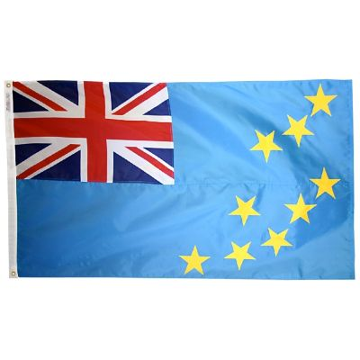 2ft. x 3ft. Tuvalu Flag with Canvas Header