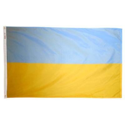 2ft. x 3ft. Ukraine Flag with Canvas Header