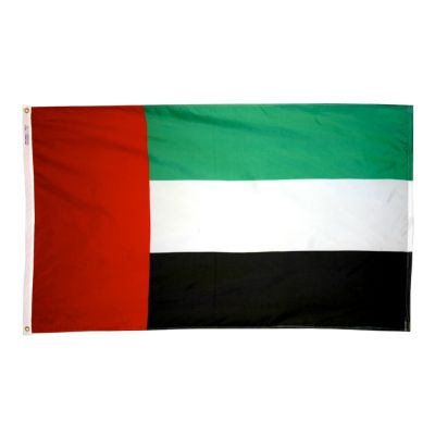4ft. x 6ft. United Arab Emirates Flag w/ Line Snap & Ring