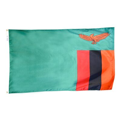 3ft. x 5ft. Zambia Flag with Brass Grommets