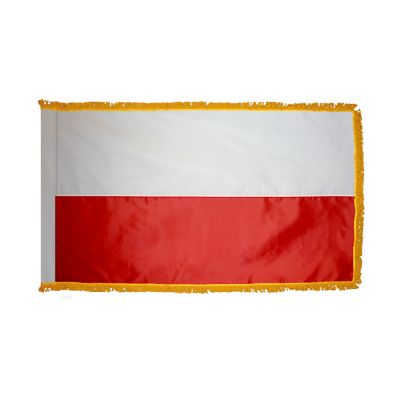 2ft. x 3ft. Poland Flag Fringed for Indoor Display