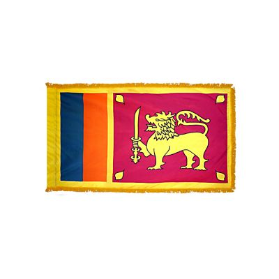 3ft. x 5ft. Sri Lanka Flag for Parades & Display with Fringe