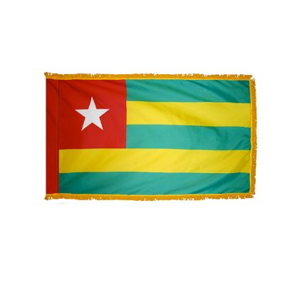 2ft. x 3ft. Togo Flag Fringed for Indoor Display