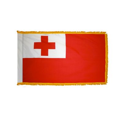 4ft. x 6ft. Tonga Flag for Parades & Display with Fringe