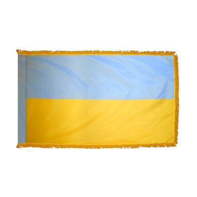 2ft. x 3ft. Ukraine Flag Fringed for Indoor Display