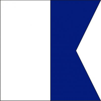 Size 8 Letter A Signal Flag with Line Snap and Ring