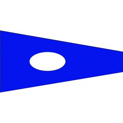 Size 6 Number 2 Signal Pennant with Line Snap and Ring