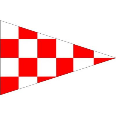 Size 4 Emergency Signal Pennant with Line Snap and Ring