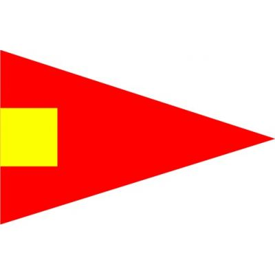 Size 3-1/2 4th Substitute Signal Pennant with Line Snap and Ring