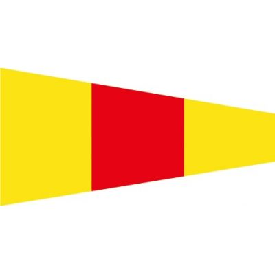Size 3-1/2 Number 0 Signal Pennant with Line Snap and Ring