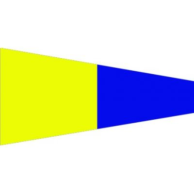 Size 3-1/2 Number 5 Signal Pennant with Line Snap and Ring