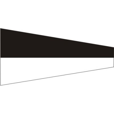 Size 3-1/2 Number 6 Signal Pennant with Line Snap and Ring