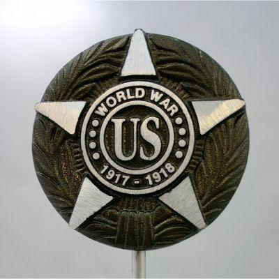 World War I War Veteran Memorial Marker Aluminum