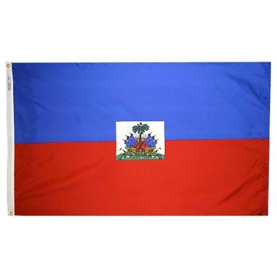 2ft. x 3ft. Haiti Flag Seal with Canvas Header