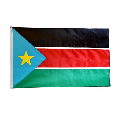 2 ft. x 3 ft. South Sudan Flag with Canvas Header