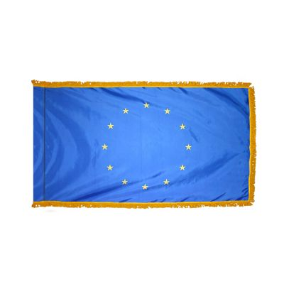2ft. x 3ft. European Union Flag Fringed for Indoor Display