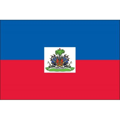 4ft. x 6ft. Haiti Flag Seal with Brass Grommets