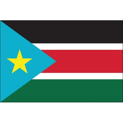 2 ft. x 3 ft. South Sudan Flag for Indoor Display