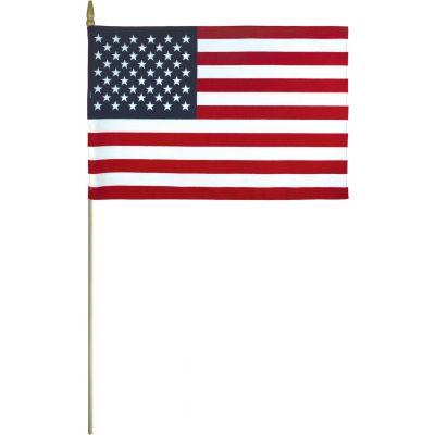 Hemmed U.S. Flags Mounted