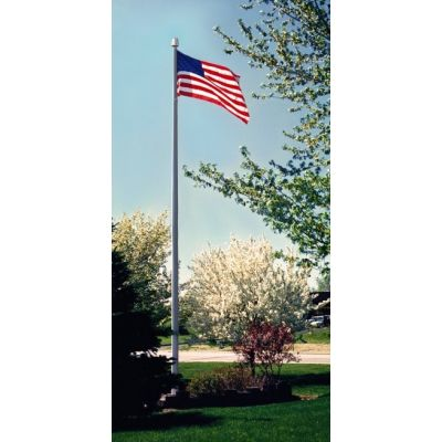 Clear Anodized - Deluxe IH Series Aluminum Flagpole