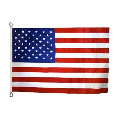 8ft. x 12ft. US Flag Nylon Rope Header