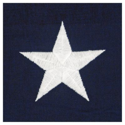 Embroidered Star on a Cotton Flag