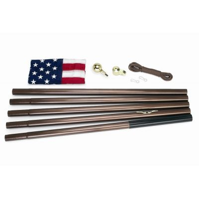 All American U.S. Flag Kit - 18 ft. Bronze Flagpole