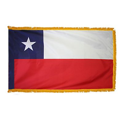 3ft. x 5ft. Chile Flag for Parades & Display with Fringe