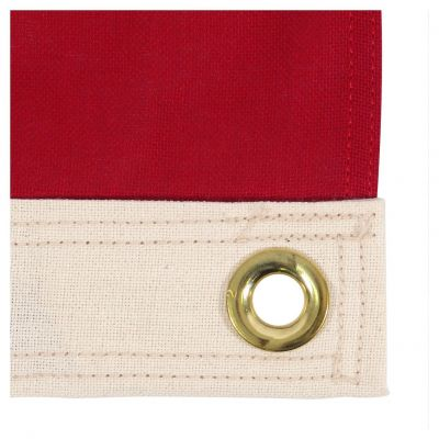 Heading and Grommet on a Cotton US Flag