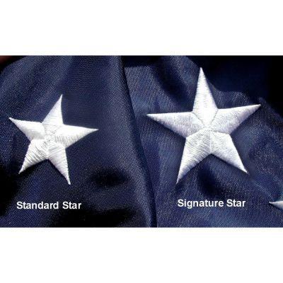 Embroidered Stars on the Signature Flag