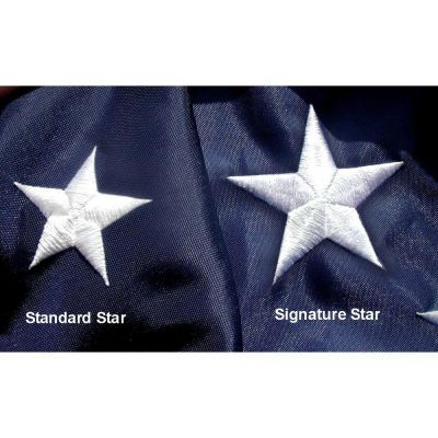 Embroidered Star Signature US Banner