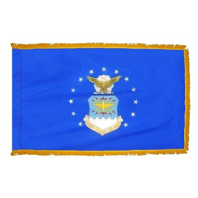 4.4ft. x 5.6ft. Air Force Flag DBL Indoor Display with Fringed