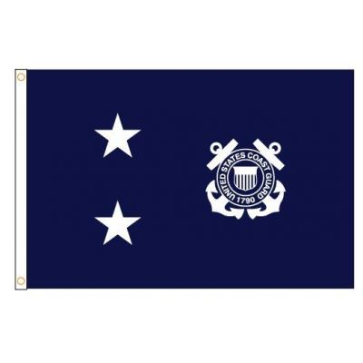 3ft. x 5ft. Coast Guard 2 Star Admiral Flag w/Grommets