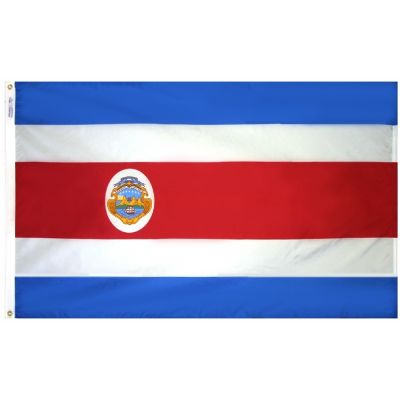 2ft. x 3ft. Costa Rica Flag Seal with Canvas Header