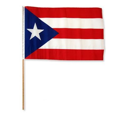 12in. x 18 in. Puerto Rico Flag on a Stick