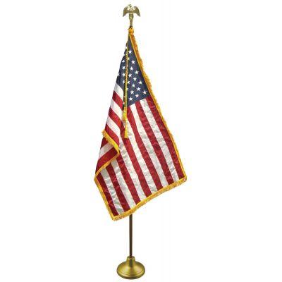 3 x 5 ft. U.S. Flag Set w/ Oak Wood Pole