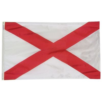 12 in. x 18 in. Alabama Flag with Brass Grommets